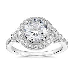 platinum halo engagement rings lhuillier vintage floral halo engagement ring in