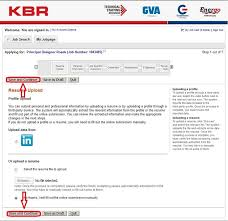 Fill Out Resume Online by How To Apply For Kbr Jobs Online At Kbr Com Careers