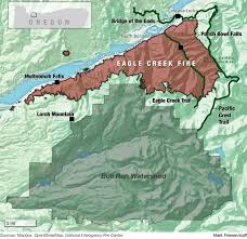 a map of oregon fires eagle creek ravages oregon s columbia gorge for 5th day
