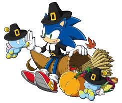 happy thanksgiving from sega sonic the hedgehog sega