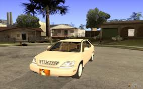 lexus model rx 300 rx 300 for gta san andreas