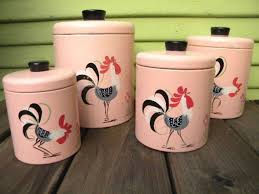 rooster kitchen canisters 105 best pink canisters images on vintage canisters