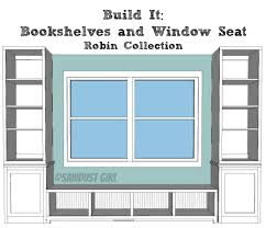 Built In Bookshelf Plans Free Built In Window Seat And Bookcases Free Plans From Sawdustgirl