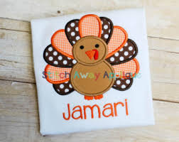 my 1st thanksgiving turkey for baby machine embroidery