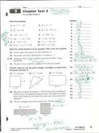 fine basic algebra practice test with answers contemporary