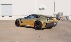 corvette stingray gold gold chrome corvette z06 car wrap city