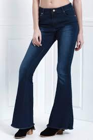 Extreme Flare Jeans Blue L Vintage Extreme Flare Jeans Rosegal Com