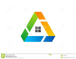 house triangle logo building architecture real estate home