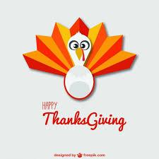 happy thanksgiving vector with turkey vector free vector