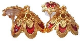 kerala style earrings kerala style palakka earrings ejk2608r kalanjali collections