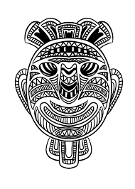 african mask 1 africa coloring pages adults justcolor