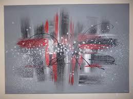 Tableau Abstrait Rouge Et Gris by Tableaux Graphiques Lesateliersdebichette