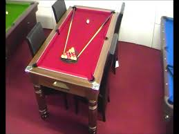 Pool Table Dining Table Majestic 6ft Pool Dining Table Dark Walnut With Cherry Red Cloth