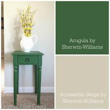 Favorite Green Paint Colors Painted Side Table Arugula By Sherwin Williams Favorite Paint