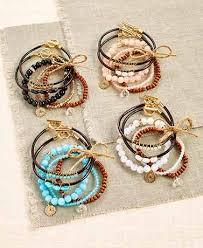 bracelet sets unique jewelry stretch bracelets charm necklaces lakeside