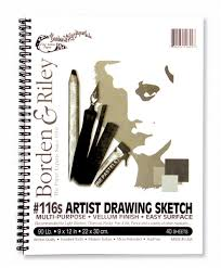 116 artist drawing sketch vellum spiral bound pads
