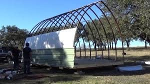 build process of a 14 u0027 x 20 u0027 arched cabin on a skid youtube