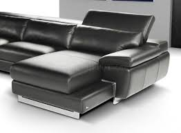 Modern Sectional Sofa Bed by Full Italian Leather Modern Sectional Sofa W Steel Legs