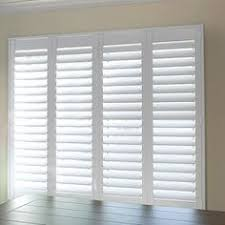 Bypass Shutters For Patio Doors Plantation Shutters On Sliding Glass Door For Family Room To