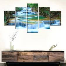 pictures for office walls paintings for office walls peaceful waterfall canvas prints 5 pieces