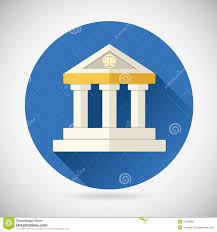 House Flat Design by Law Court Museum Bank House Symbol Justice Stock Vector Image