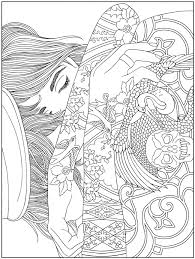pattern coloring pages for adults body art tattoo colouring pages free samples dover publications