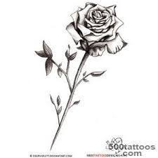 resultado de imagem para small tattoos stem roses