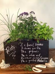 indoor kitchen herb garden in diy chalkboard wine crate french