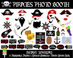 printable pirates photo booth propsphoto booth sign printable