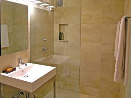 beige bathroom ideas large shower with glass door and barriers