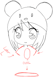 how to draw a chibi with cute mouse hat easy step by step