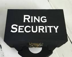 ring security wedding ring security box etsy