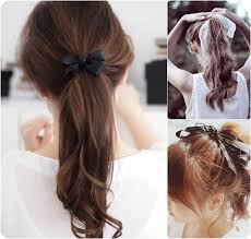 ribbon ponytail 7 easy and chic ponytail hairstyle for back to school