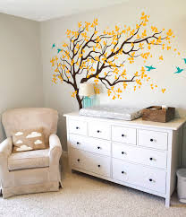 Beautiful Wall Stickers For Room Interior Design by Large Tree Wall Decal With Birds Mural For Kids Room Nt018