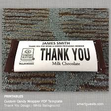printable custom candy bar wrapper pdf template print at hotel