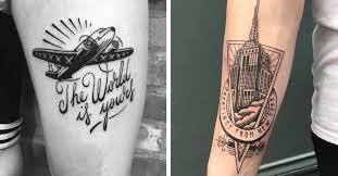 French artist 39 s illustrative tattoos depict travel memories