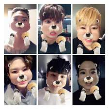 cutest k pop idols using snapchat and snow filters u2022 kpopmap
