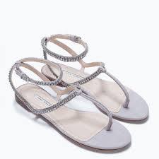 flat sandal with diamante shoes woman shoes u0026 bags zara united