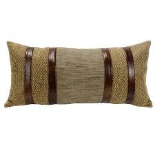 faux leather throw pillows highland lodge bedding collection