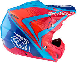 red motocross helmet troy lee designs mx helmets troy lee designs se3 neptune blue red