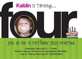 4th birthday invitation lilbibby com