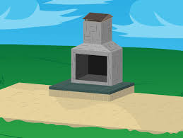 Small Fire Station Floor Plans How To Build Outdoor Fireplaces With Pictures Wikihow