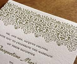 Vintage Lace Wedding Invitations Vintage Letterpress Wedding Invitation Designs Invitations By