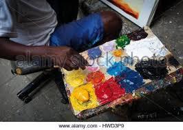 tanzania zanzibar stone town painter stock photo royalty free