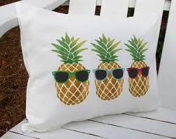 pineapple bedding etsy