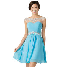 wholesale light blue rose red purple prom dresses short 2016