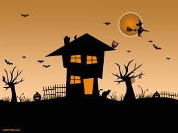 spooky cemetery clipart halloween scenes clipart 59