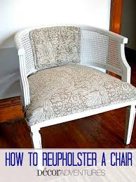 How To Reupholster Armchair How To Reupholster A Chair Decor Adventures