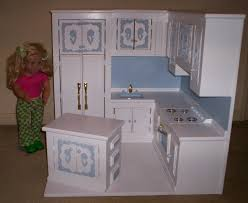 18 inch doll kitchen furniture kitchen made for american size doll by cmcraftedtreasures