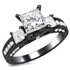 white and black diamond engagement rings black diamond engagement rings for less overstock